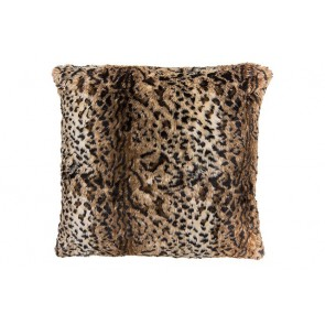 Bambury Leopard Faux Fur Square Cushion