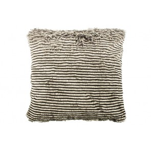 Bambury Stripe Faux Fur Square Cushion