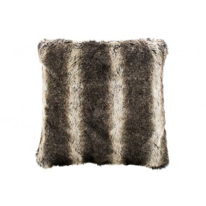 Bambury Wolf Faux Fur Square Cushion