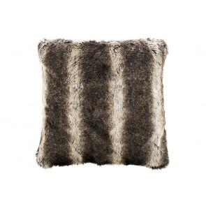 Bambury Wolf Faux Fur Square Cushion