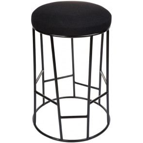 Aiden Kitchen Stool - Black w Black Frame