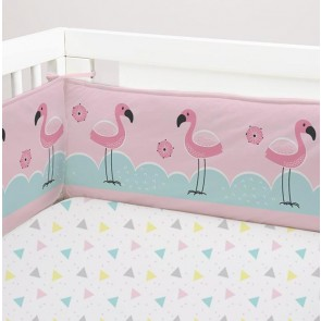 Flamingo 2 Piece Cot Bumper Set by Lolli Living