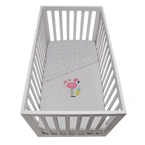 Flamingo Waffle Cot Blanket by Lolli Living