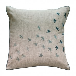 MM Linen Flock of Birds Cushion