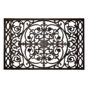 Floral Iron Doormat Set by Channel Enterprises