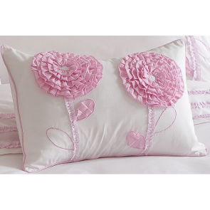 Whimsy Floret 2 Flowers Filled Cushion