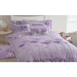 Whimsy Floret Lilac Quilt Cover Set