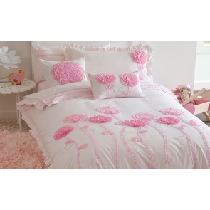 Whimsy Floret Pink Double Quilt Cover Set