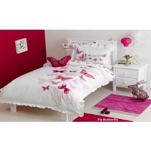 Whimsy Fly Butterfly Double Kids Bedding