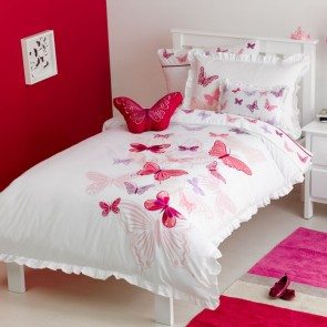 Whimsy Fly Butterfly Kids Bedding