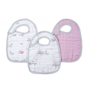 Aden and Anais For The Birds Snap Bib 3 Pack