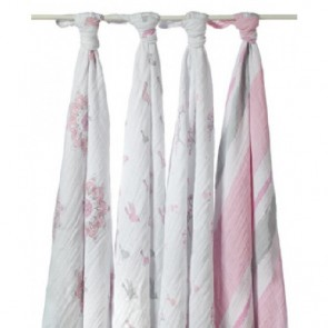 Aden and Anais For The Birds Swaddle 4 Pack