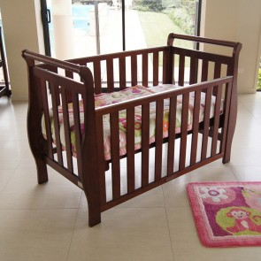 Babyhood Georgia Sleigh 4 In 1 Cot