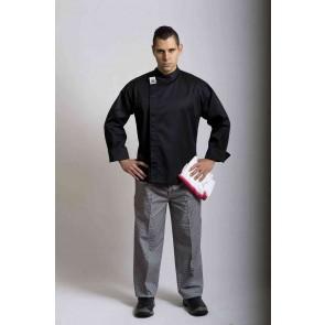 CR Modern Black Long Sleeve Chef Jacket by Global Chef