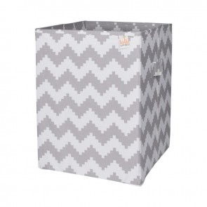 Grey Chevron Hamper by Lolli Living