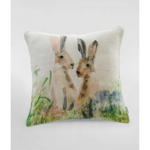 Hares Square Cushion by MM Linen