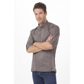 Hartford Graphite Zipper Chef Jacket by Chef Works