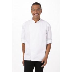 Hartford White Zipper Chef Jacket by Chef Works