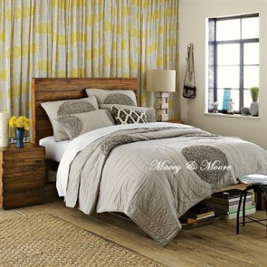 Macey & Moore Heather Grey Coverlet