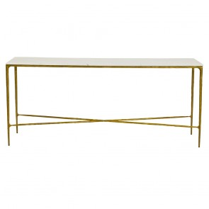 Heston Console Table - Brass