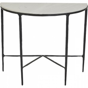Heston Demilune Table - Black
