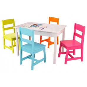 Highlighter Table & 4-Chair Set by Kidkraft