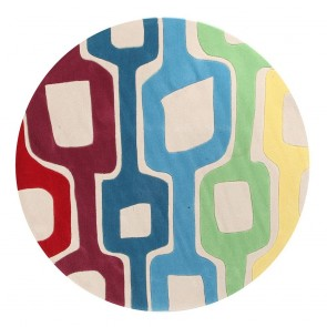 Gold 620 White Round By Rug Culture