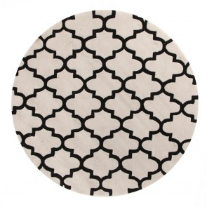 Gold 625 White & Black Round By Rug Culture