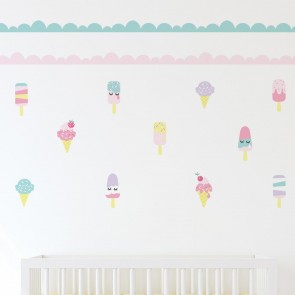 Ice Creams Wall Decal Set by Lolli Living
