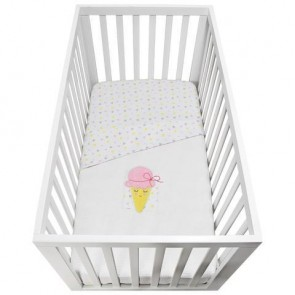 Ice Cream Waffle Cot Blanket by Lolli Living