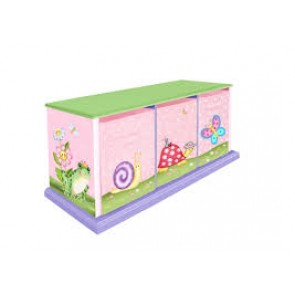 Teamson Magic Garden 3 Bag Storage Cabinet