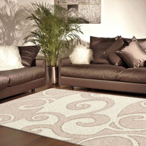 Havana Beige Imperial Carving Rug by Saray Rugs