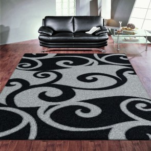 Havana Black Imperial Carving Rug by Saray Rugs