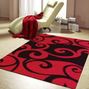 Havana Red Imperial Carving Rug by Saray Rugs