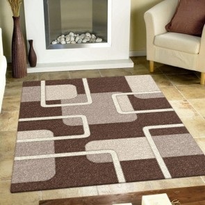 Padding Brown Imperial Carving Rug by Saray Rugs
