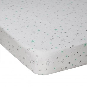 Shining Stars Jersey Fitted Sheet by Lolli Living