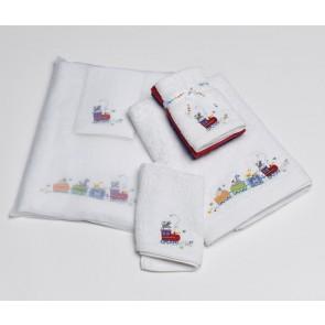Jiggle & Giggle Animal Train Bath Towel