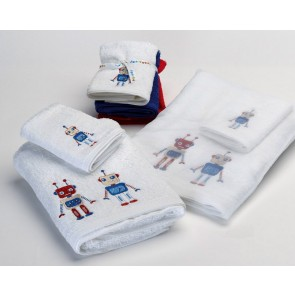 Jiggle & Giggle Robots Bath Towel
