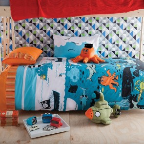 Under The Sea Double Quilt Cover Set by Kas Kids CS