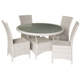 Kenway Wicker 5-Piece Outdoor Dining Setting