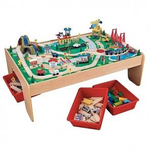 Waterfall Mountain Train Set And Table by Kidkraft