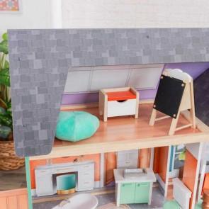 Kidkraft Dahlia Mansion Dollhouse With EZ Kraft Assembly