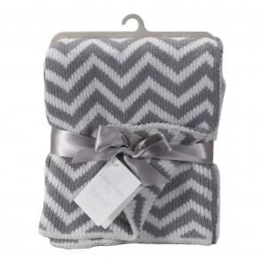 Chevron Knit Blanket by Living Textiles
