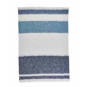 Lagoon Mohair Throw Rug by St Albans
