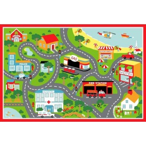 Little Circus Road Map Beach By Rug Culture