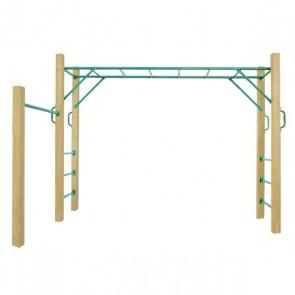 Lifespan Kids Amazon 2.5m Green Monkey Bars Set
