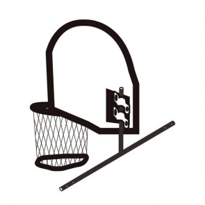Lifespan Kids Swish Trampoline Basketball Ring with Bracket for Hyperjump Rectangular Trampoline