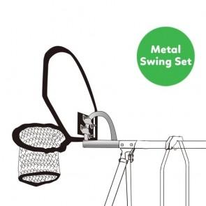 Lifespan Kids Swish Trampoline Basketball Ring with Timber Swing Set Adaptor