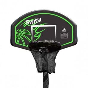 Lifespan Kids Swish Trampoline Basketball Ring with Metal Swing Set Adaptor