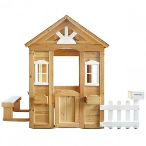 Lifespan Kids Teddy Cubby House in Natural Timber + Floor  (V2)